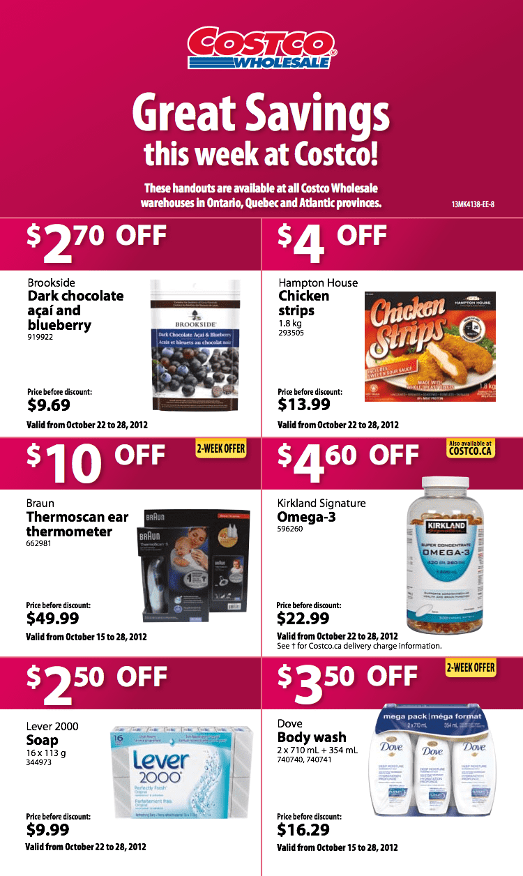 Costco Flyer For Ontario Quebec Amp Atlantic Oct 22 28