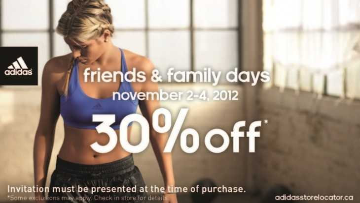 Adidas Friends and Family Sale
