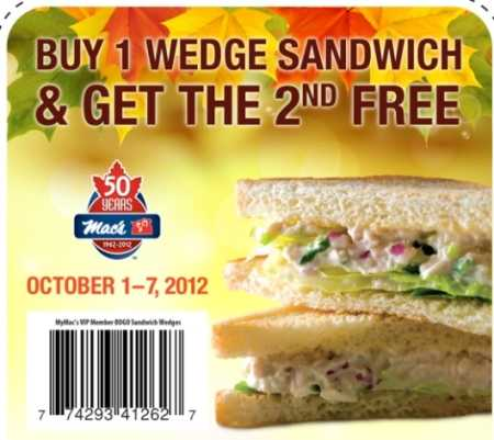 Mac's Sandwich Coupon
