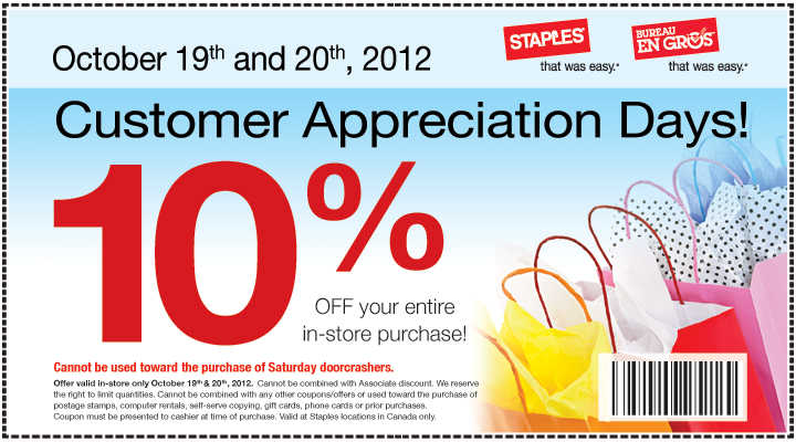 Staples Customer Appreciation Days