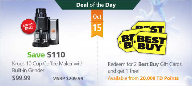 TD Rwards Deal of the Day