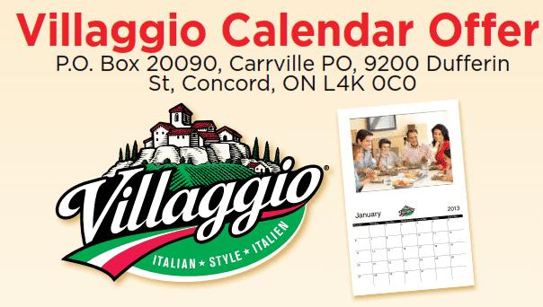 Villagio Free calendar