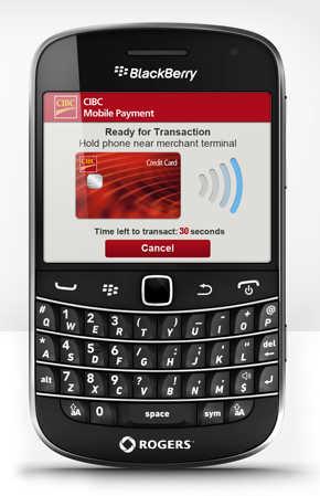 CIBC Blackberry mobile payment app