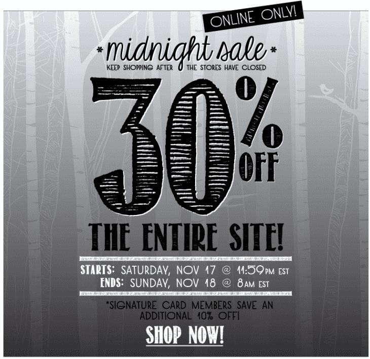 Bluenotes Midnight Sale