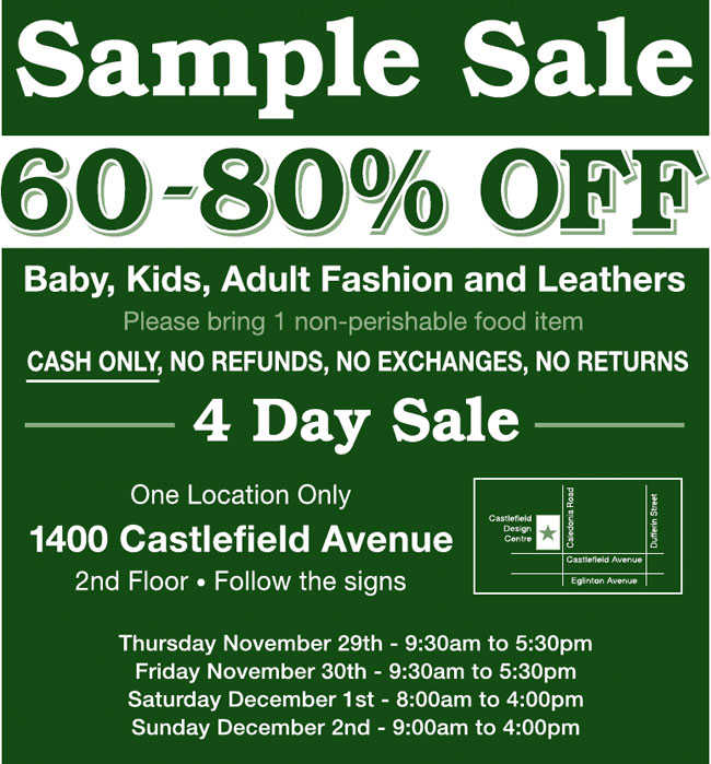 Roots Sample Sale