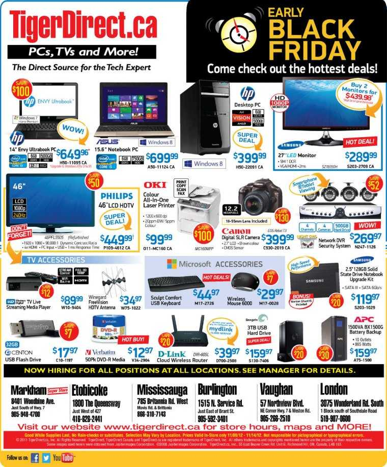 Tigerdirect Black Friday Sale Flyer November 9th 14th