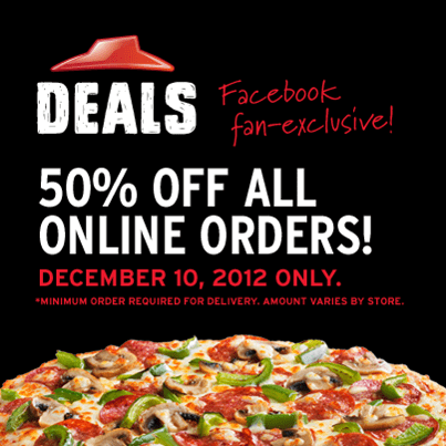 Only for today! Order any large pizzas with any toppings you are craving for and redeem this code at checkout to enjoy the discount!