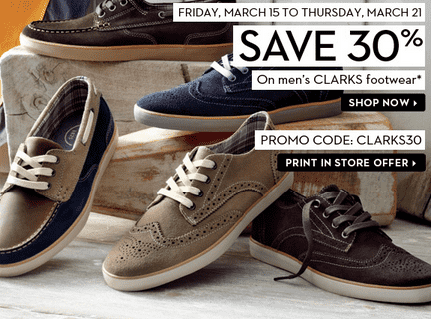 6a37315290 Hudson's Bay Offer: Save 30% On Clarks Shoes For Men - Hot Canada ...