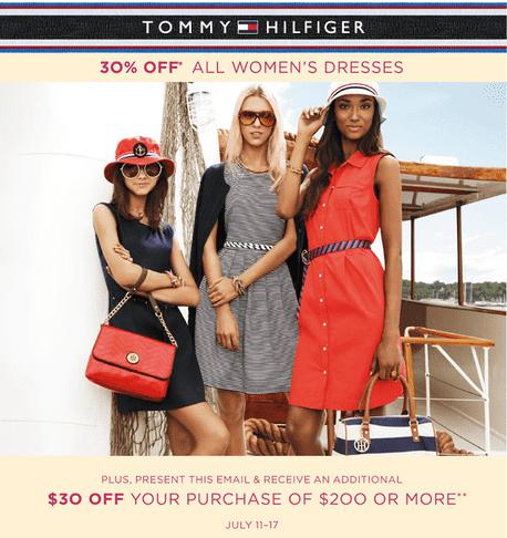 bestil online at købe gratis fragt Tommy Hilfiger Canada Sale: 30% off All Women's Dresses + ...