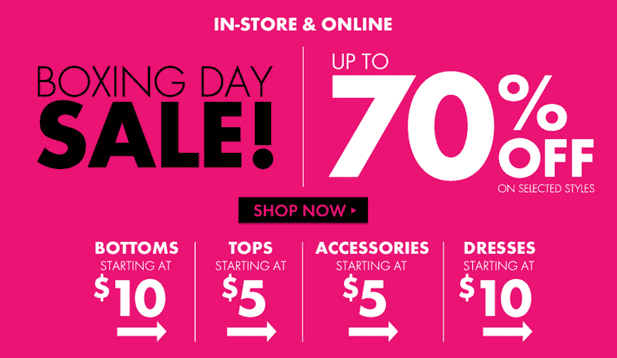 fa4d11c250e9e Boxing Day Sale is LIVE now at Dynamite Canada! Save up to 70% off on  selected ...