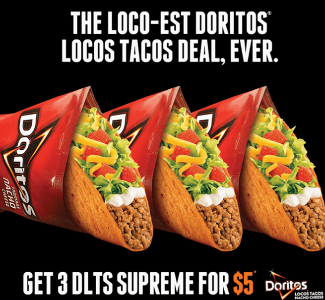 graphic relating to Taco Bell Printable Coupons known as Taco Bell Canada Printable Coupon codes: 3 DLTS Top For Exactly