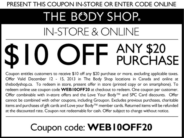 The Body Shop Info & Tips