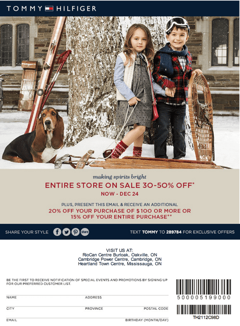 Browse for Tommy Hilfiger coupons valid through November below. Find the latest Tommy Hilfiger coupon codes, online promotional codes, and the overall best coupons posted by our team of experts to save you 30% off at Tommy Hilfiger.