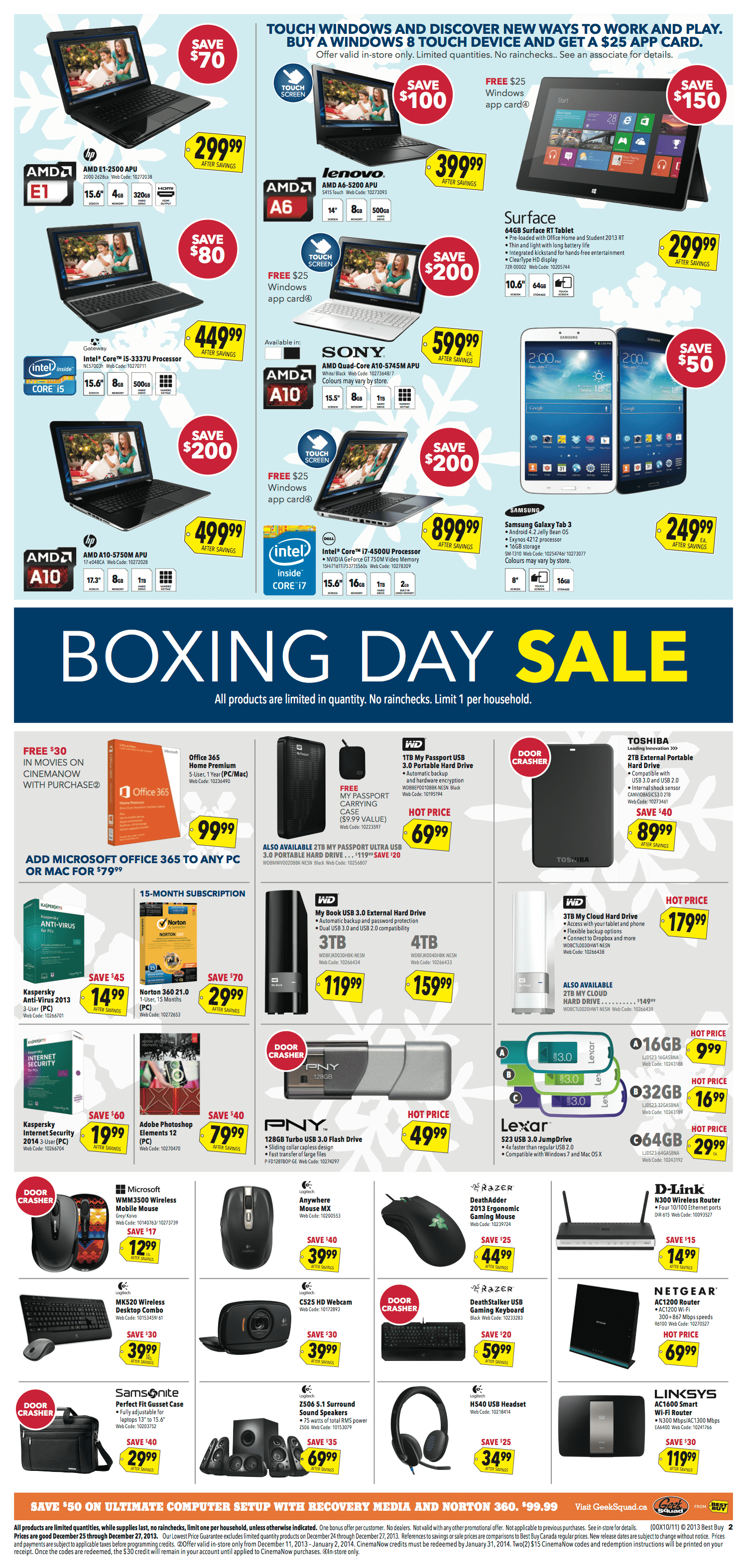 Best Buy Canada Boxing Day Flyer 2013 - Hot Canada Deals ...