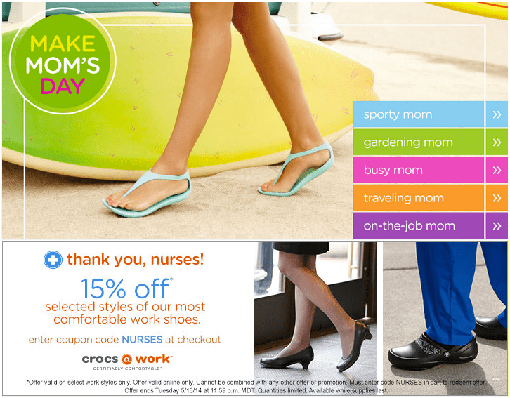 233b4d8c1636e Crocs Canada has good offers for Mother s day! These Crocs offers include
