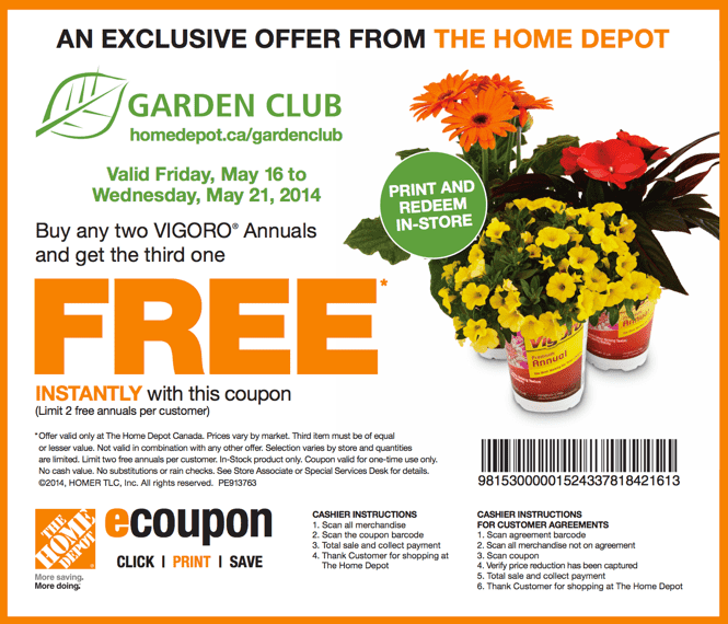 The Home Depot Garden Club Printable Coupons: Buy Any Two