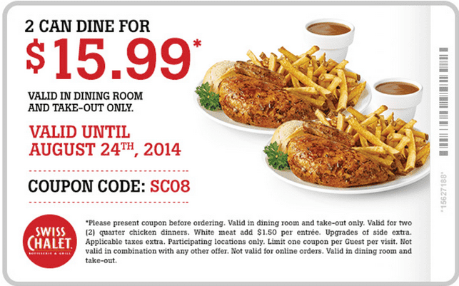 Swiss chalet coupon 2018 canada