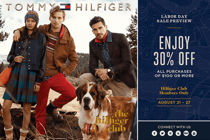 tommy hilfiger promotional coupon