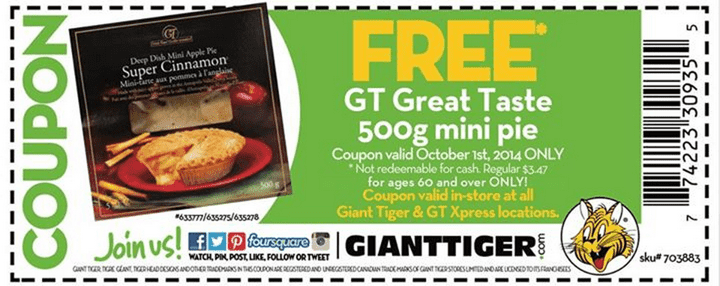 Giant tiger coupons canada