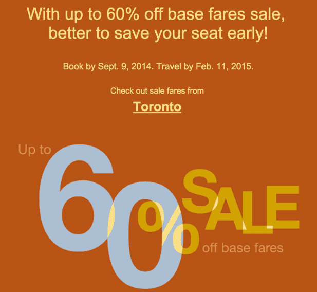 Porter airlines canada sale save up to 60 on base fares for Porter canada
