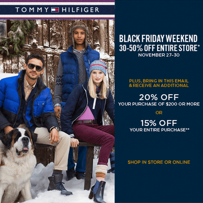 5ed343fd2 Tommy Hilfiger Canada Black Friday Weekend Sale Plus Savings Coupon ...