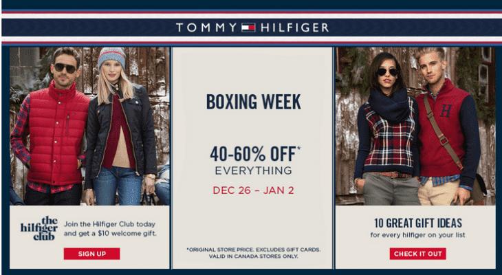 Bestseller einkaufen speziell für Schuh gutes Geschäft Tommy Hilfiger Canada Boxing Week/Day 2014 Sale: Save 40%-60 ...