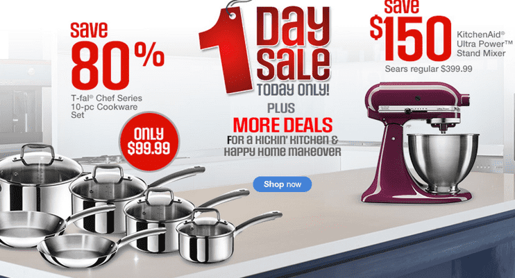 Sears Canada Online One Day Hot Sale Just 99 99 For 10