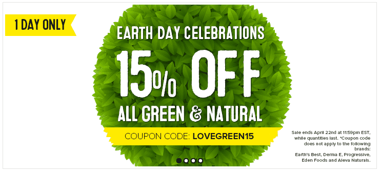 Canada earth day celebrations 1 day offers save for Gardening naturally coupon