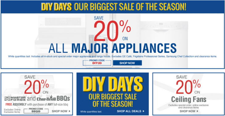Lowe s canada diy days offers save on all major