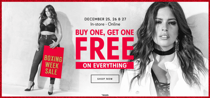 Addition Elle Canada Boxing Day Sale