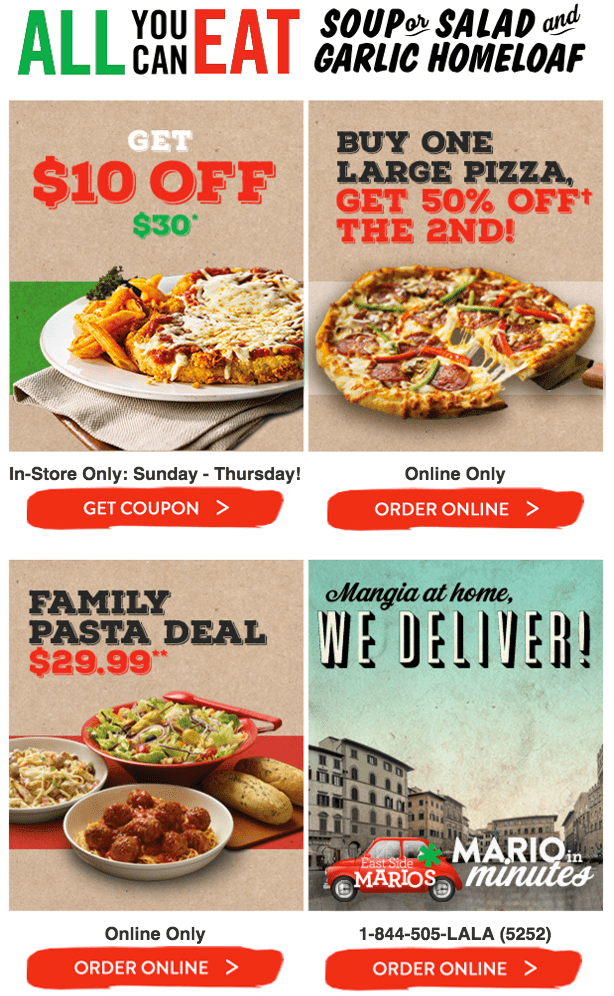 marios pizza east northport coupons