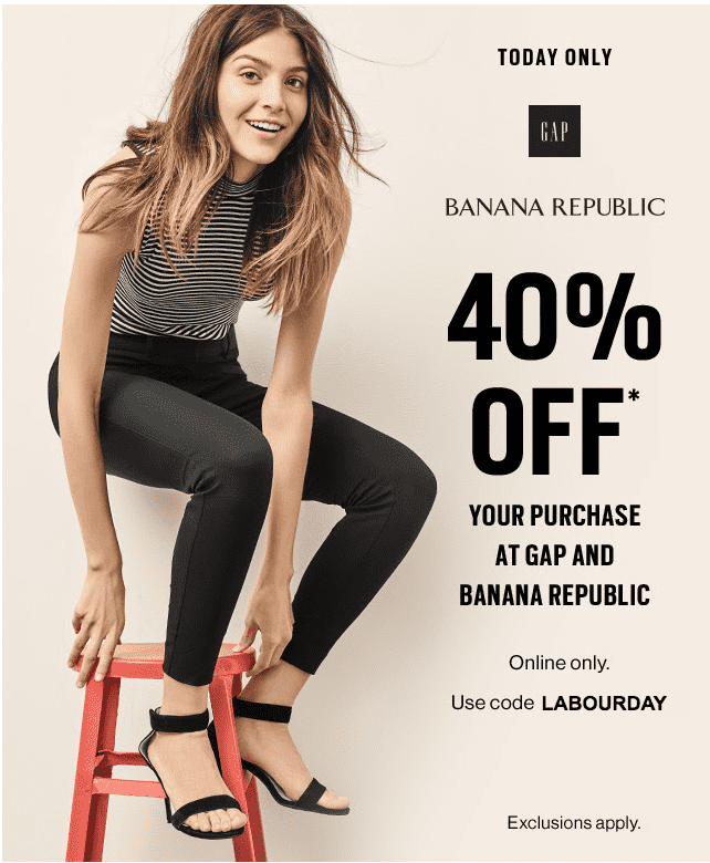 417d116f6 Gap & Banana Republic Canada Online Offers: Save 40% Off Your ...