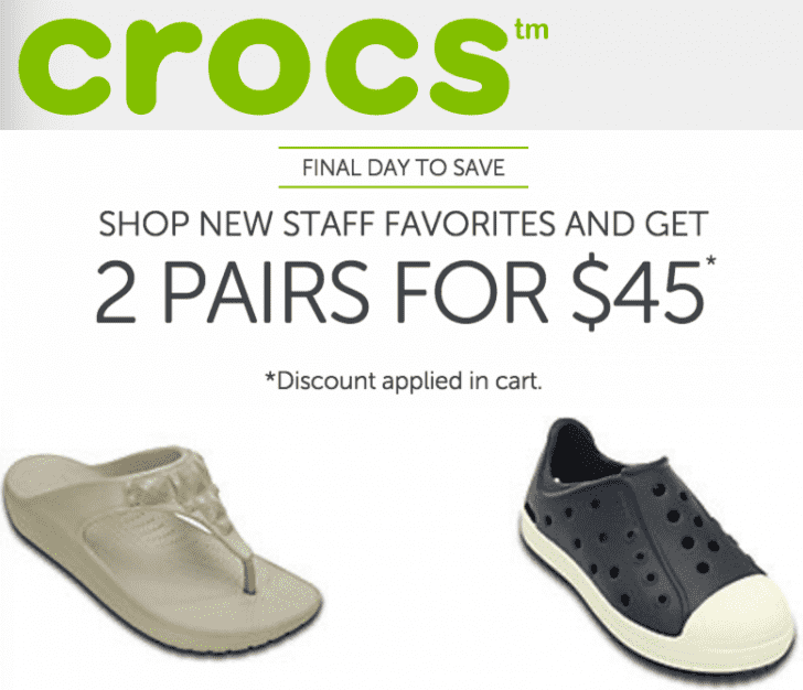 e1980ce16e09c1 Screen Shot 2016-08-29 at 7.10.54 PM. Crocs Canada has an awesome Online Flash  Sale ...