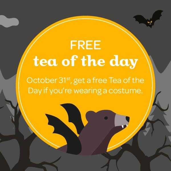 DAVIDsTEA FREE Tea Halloween Offer at Smartcanucks.ca