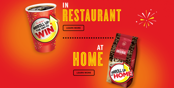 Tim Hortons Canada Roll Up The Rim