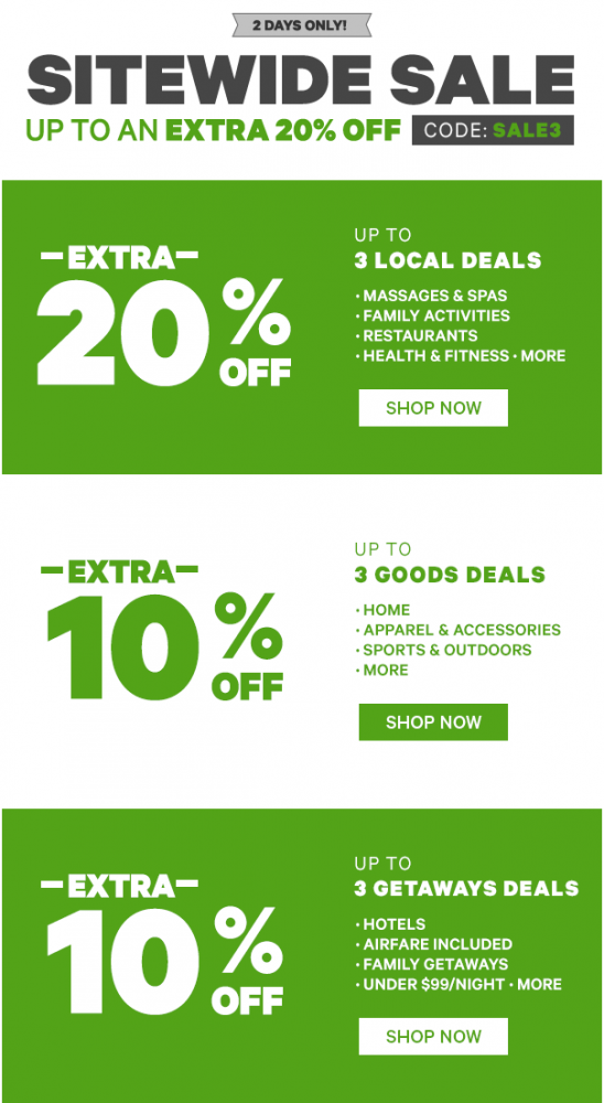 Groupon Canada Promo Code Offers: Save Extra 20% Off Local