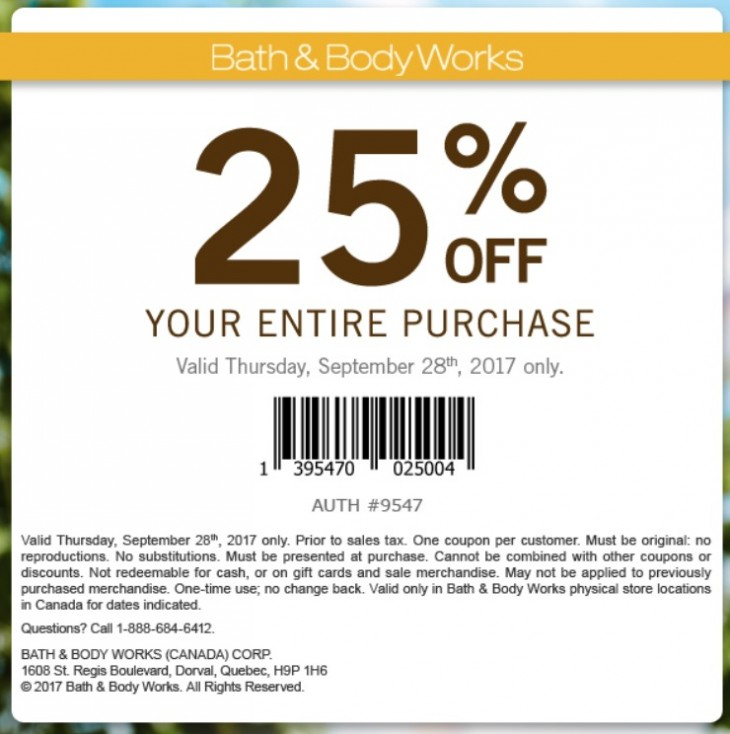 Bath $ Body Works Coupon