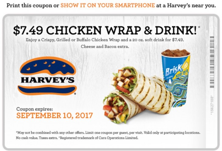 Harvey's Canada Coupon