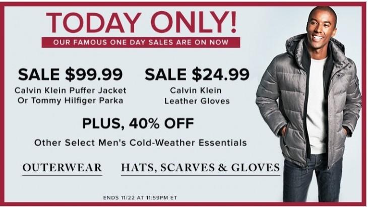 b16acfba7 Hudson's Bay Canada Pre Black Friday 1 Day Sale: Today, Calvin Klein ...