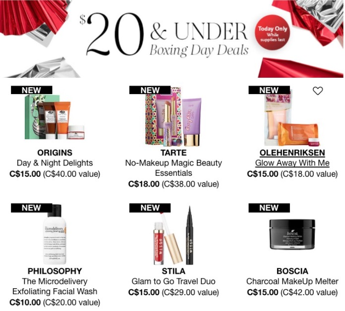 Sephora Canada Boxing Day Sale Today 20 Under Deals Hot Canada Deals Hot Canada Deals