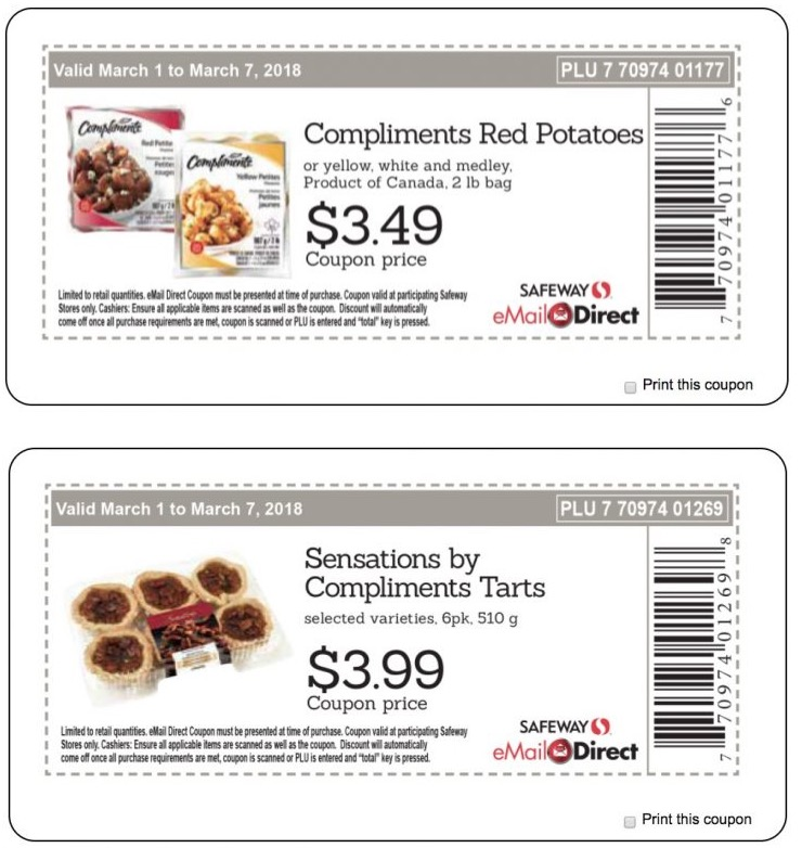 Safeway, Sobeys Canada New Weekly Coupons: Compliments Red