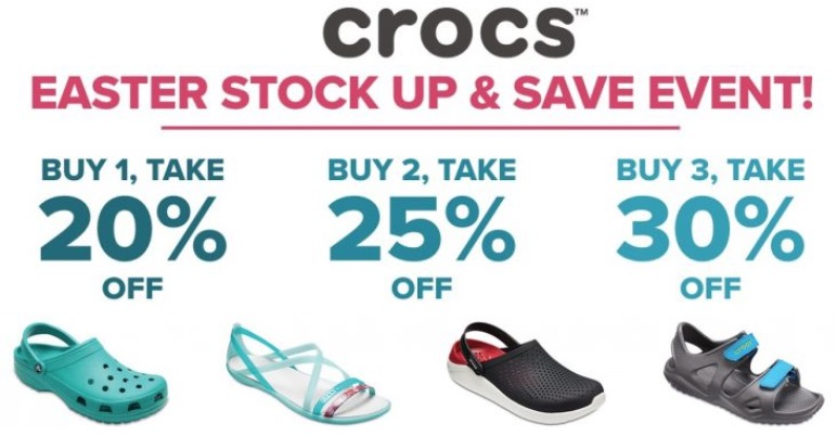 680fca24a44f5 Crocs Canada Easter Stock Up   Save Sale  Save An Extra 20%-30% Off Your  Order