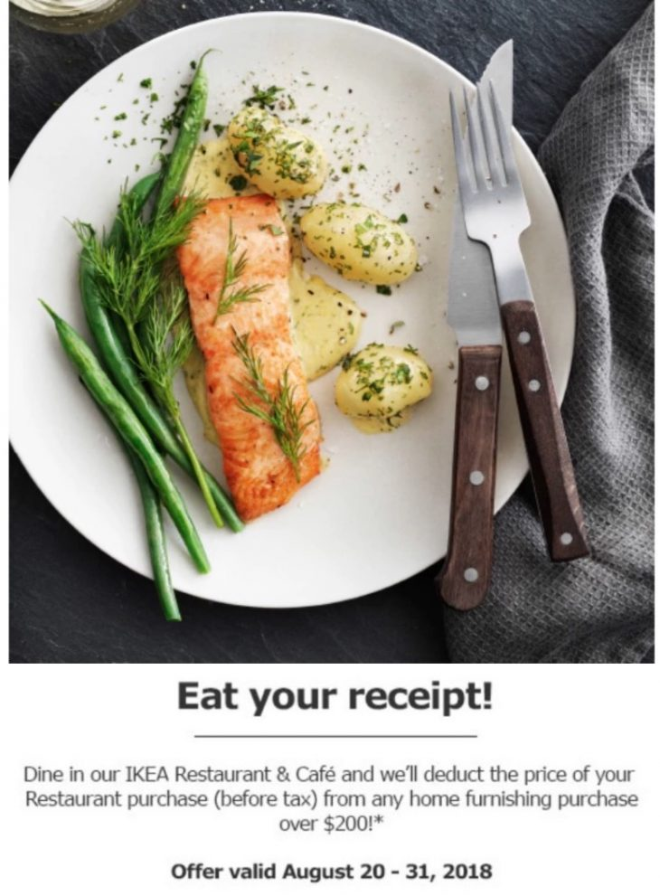Ikea canada deals dine in at ikea restaurant cafe and for Ikea restaurant discount