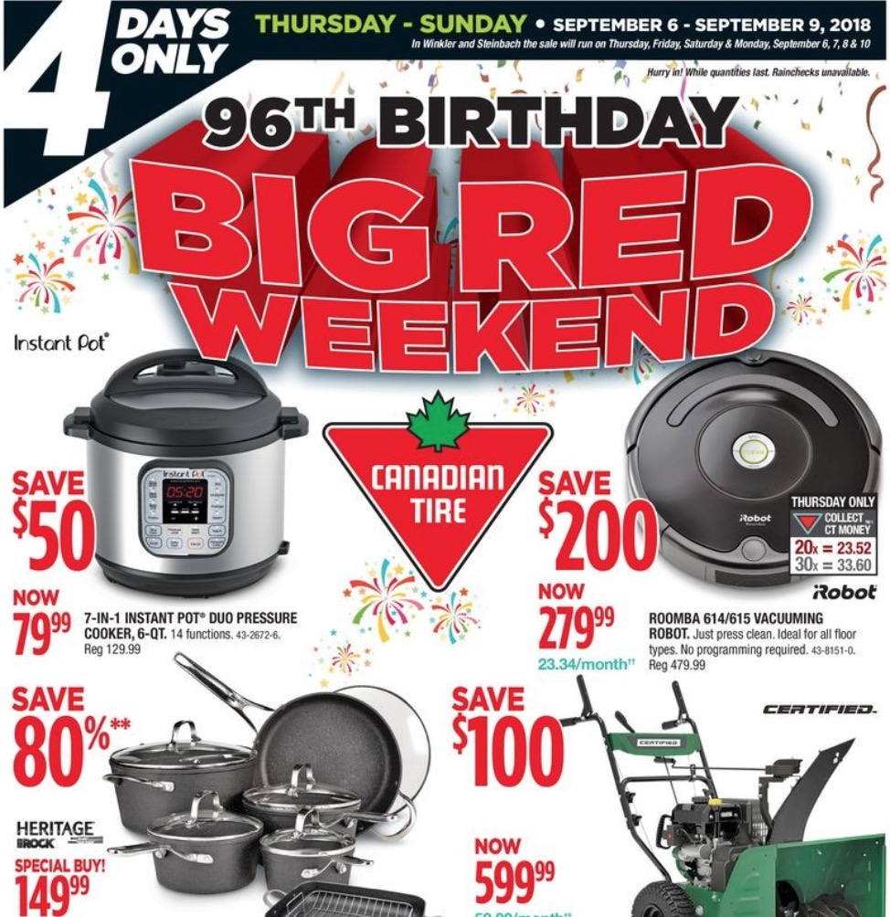 Canadian Tire Big Red Weekend Sale: Save up to 80% Off - Hot Canada