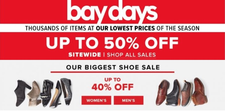 7ef3782fffb3 Hudson s Bay Canada Bay Days Sale  Save up to 50% Off Sitewide