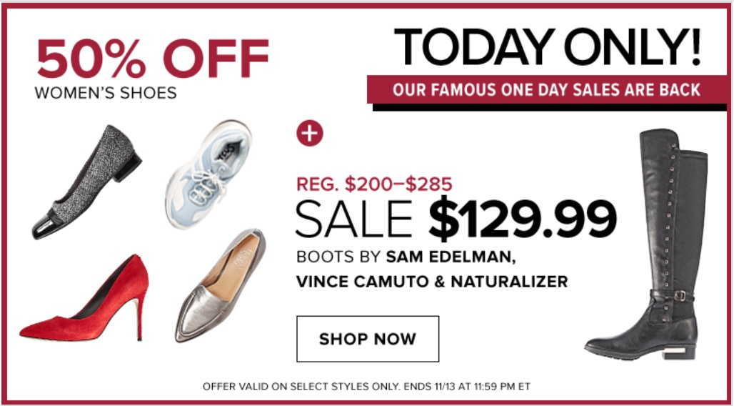 3ed7dfd67 Hudson s Bay Canada Daily Deals  Save 50% Off Select Women s Shoes ...