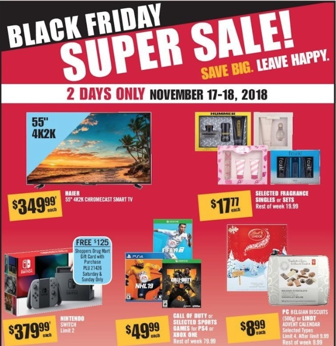 2a4516c9c88 Shoppers Drug Mart Canada will be having a Black Friday Super Sale this  weekend, from November 17, 2018, until November 18, 2018. Enjoy great deals  on many ...