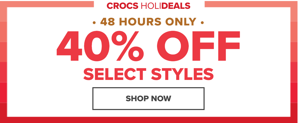 827c9d2f41c06a Crocs Canada has an awesome 48-Hours FLASH Sale available now. Shop online  today and save an EXTRA 40% off Many Styles. Discount automatically applied  in ...