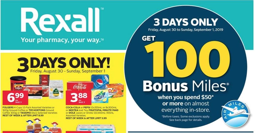 rexall coupon air miles
