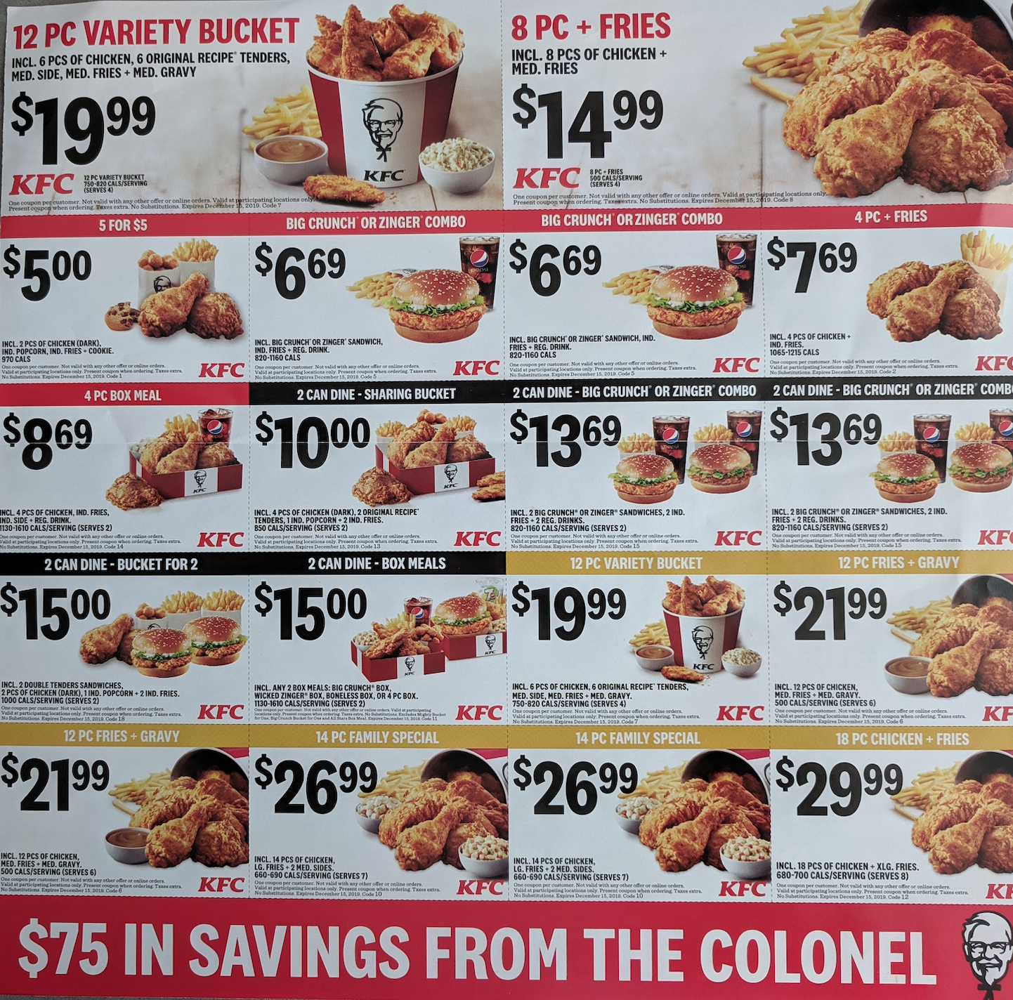 Kfc Canada New Mailer Coupons 5 For 5 00 More Coupons Deals Hot Canada Deals Hot Canada Deals